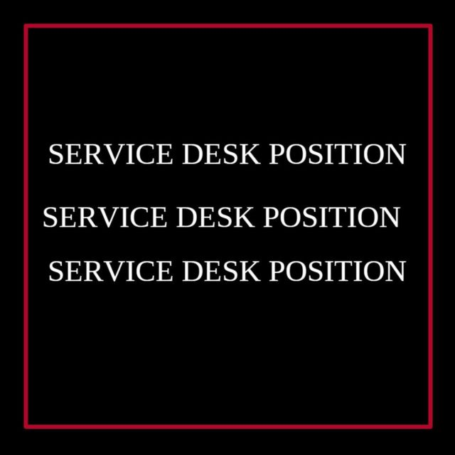 Service Desk And Technical Support