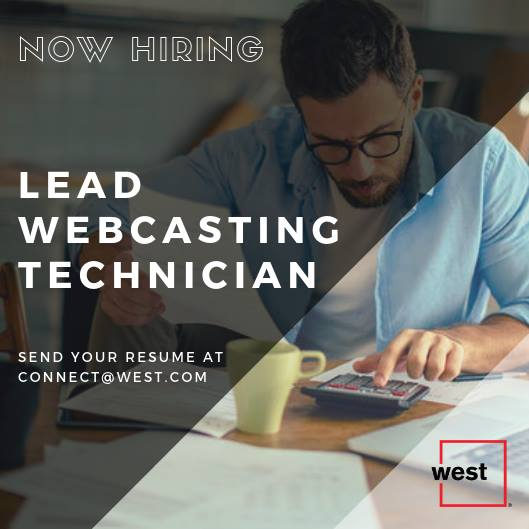 Lead Webcasting Tech (Integrated Call Capture Analyst)