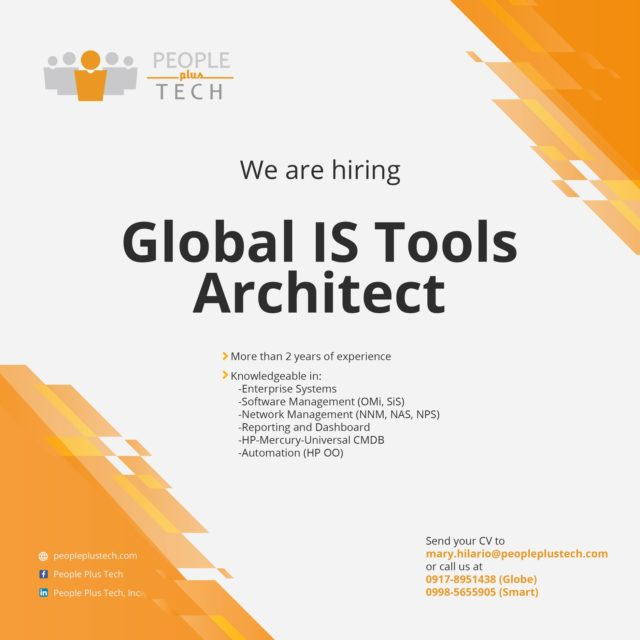 Global IS Tools Architect